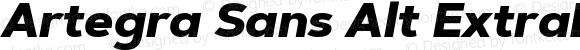 Artegra Sans Alt ExtraBold Italic Version 1.00;com.myfonts.easy.artegra.artegra-sans.alt-extrabold-italic.wfkit2.version.4KoA