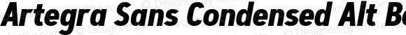 Artegra Sans Condensed Alt Bold Italic Version 1.00;com.myfonts.easy.artegra.artegra-sans.alt-cond-bold-italic.wfkit2.version.4KmP