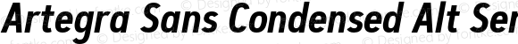 Artegra Sans Condensed Alt SemiBold Italic Version 1.00;com.myfonts.easy.artegra.artegra-sans.alt-cond-semibold-italic.wfkit2.version.4Kqr