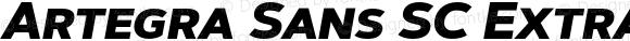Artegra Sans SC ExtraBold Italic Version 1.00;com.myfonts.easy.artegra.artegra-sans.sc-extrabold-italic.wfkit2.version.4KoE
