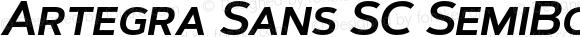 Artegra Sans SC SemiBold Italic Version 1.00;com.myfonts.easy.artegra.artegra-sans.sc-semibold-italic.wfkit2.version.4KpB