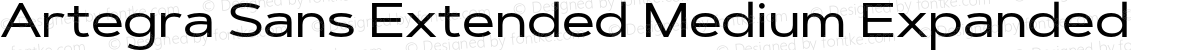 Artegra Sans Extended Medium Expanded