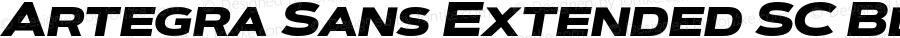 Artegra Sans Extended SC Black Italic Version 1.00;com.myfonts.easy.artegra.artegra-sans.sc-extend-black-italic.wfkit2.version.4Kqx