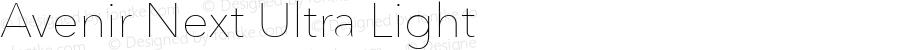 Avenir Next Ultra Light 8.0d5e5