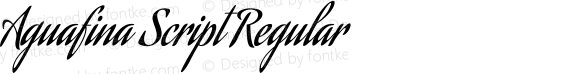 Aguafina Script Regular