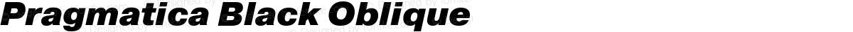 Pragmatica Black Oblique