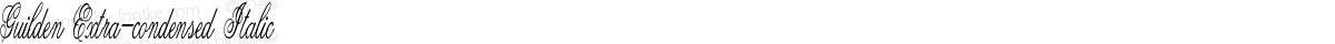 Guilden Extra-condensed Italic