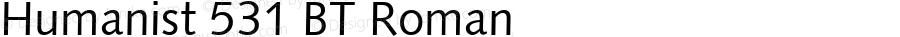Humanist 531 BT Roman spoyal2tt v1.34