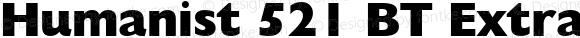 Humanist 521 BT Extra Bold