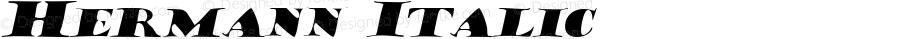 Hermann Italic Macromedia Fontographer 4.1 7/20/96