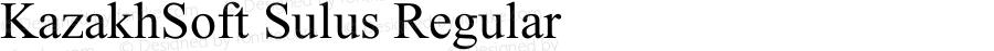 KazakhSoft Sulus Regular Version 1.00