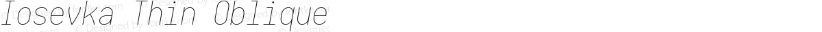 Iosevka Thin Oblique