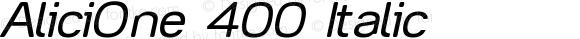 AliciOne 400 Italic Version 0,000