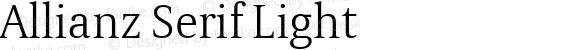 Allianz Serif Light Version 1.20