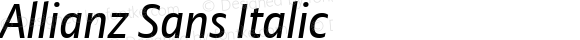 Allianz Sans Italic Version 1.20