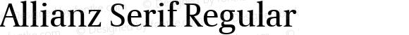 Allianz Serif Regular Version 1.20