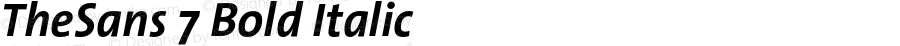 TheSans 7 Bold Italic 1.0