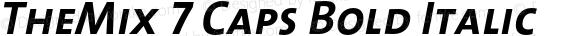TheMix 7 Caps Bold Italic 1.0