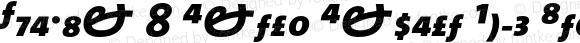 TheMix 8 Extra Expert Bold Italic 1.0