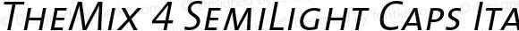 TheMix 4 SemiLight Caps Italic 1.0