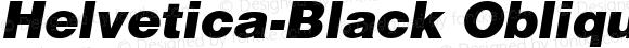 Helvetica-Black Oblique