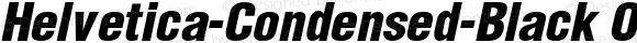 Helvetica-Condensed-Black Obl