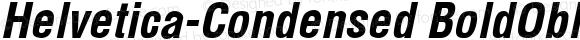 Helvetica-Condensed BoldObl