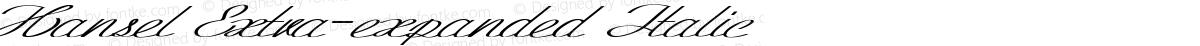 Hansel Extra-expanded Italic