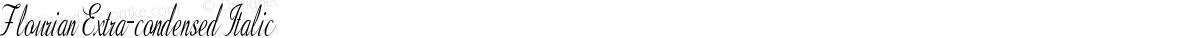 Flourian Extra-condensed Italic