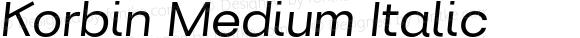 Korbin Medium Italic