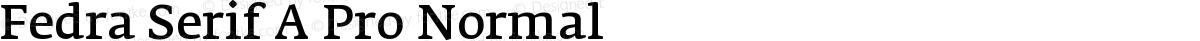 Fedra Serif A Pro Normal