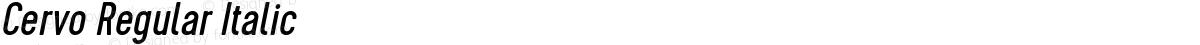 Cervo Regular Italic