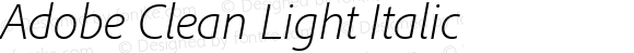 Adobe Clean Light Italic