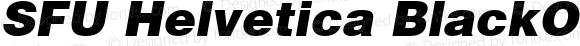 SFU Helvetica BlackOblique