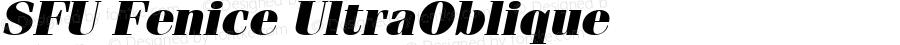 SFU Fenice UltraOblique Macromedia Fontographer 4.1.5 10/4/05