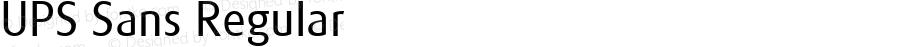 UPS Sans Regular Version 1.001 Mactt