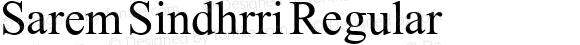 Sarem Sindhrri Regular Version 1.00 February 1, 2009, initial release