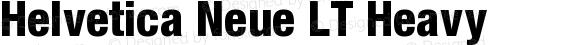 Helvetica Neue LT Heavy