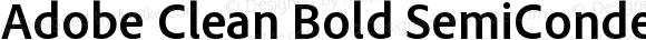 Adobe Clean Bold SemiCondensed