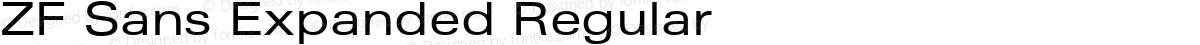 ZF Sans Expanded Regular