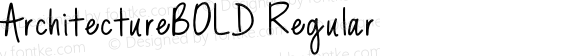 ArchitectureBOLD Regular Version 1.035;Fontself Maker 1.1.1