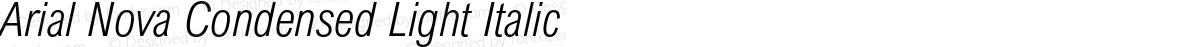 Arial Nova Condensed Light Italic