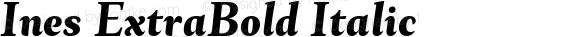 Ines ExtraBold Italic
