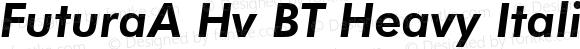 FuturaA Hv BT Heavy Italic