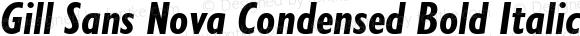 Gill Sans Nova Condensed Bold Italic