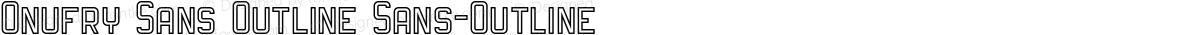 Onufry Sans Outline Sans-Outline