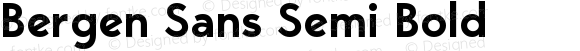 Bergen Sans Semi Bold