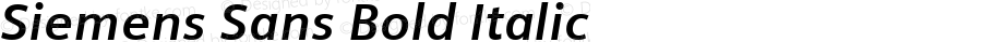 Siemens Sans Bold Italic