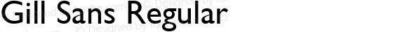 Gill Sans Regular 1.0 Thu Dec 27 14:15:38 2001