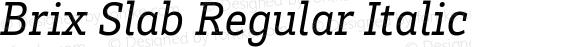 Brix Slab Regular Italic